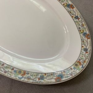 "Vintage Dining - Vtg Fraureuth Germany The Elrae 15"" Platter"